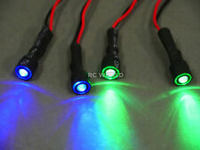 RC Racing Drone Quad LIGHT SYSTEM POWERFUL 10mm HALO LED - GREEN + BLUE + WIRE