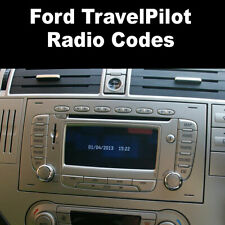 Ford TravelPilot Radio Code Stereo Car Unlock Fast Service V Serial Number