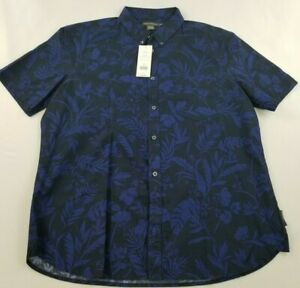 new FRENCH CONNECTION men shirt 52LHW fumio blue blood USA design sz XL $78
