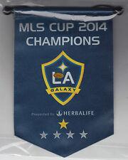 2015 LOS ANGELES GALAXY MLS CUP 2014 CHAMPIONS COMMEMORATIVE BANNER SGA