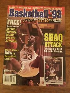 Basketball '93 Preview Shaquille O'Neal Cover Magazine Dec. 1992