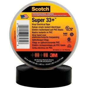 3M Scotch Super 33+ black tape 19mm x 20M - Pack of 3 rolls