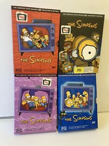 THE SIMPSONS BULK BUNDLE DVD Box Sets - Seasons 3,4,5,6 - Region 4 PAL