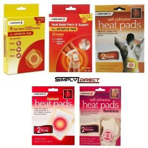 Masterplast Self Adhesive Heat Pads Muscle Back Joint Pain Relief Instant