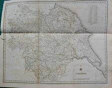 1842 ANTIQUE COUNTY MAP- YORKSHIRE, LARGE MAP SHOWING ENTIRE COUNTY