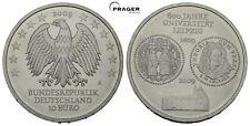 PRAGER: Deutschland,10 Euro 2009, 600 Jahre Uni Leipzig, SILBER [1333]#j