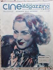 cine magazzino teatro radio cinema mariella lotti rare italian magazine movies