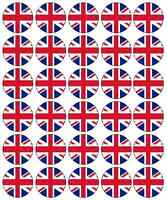 30 Union Jack Edible Rice Paper Cake/Cupcake Fairy Cake Toppers