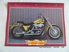 CARTE FICHE MOTO MR TURBO HARLEY DAVIDSON   1993