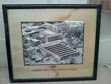 antique advertising,sign,display,textile company of atw dominion fabrics frame