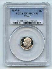 1997 S 10C Silver Roosevelt Dime Proof PCGS PR70DCAM