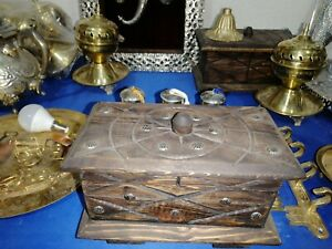 Antique Wooden Box  berber handmade box
