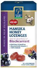 NEW ZEALAND Manuka Honey MGO 400+ & Blackcurrant 15 Lozenges 100% NATURAL