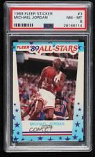 1989-90 Fleer All-Stars Stickers Michael Jordan #3 PSA 8 HOF