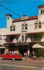 1950s Hotel Prather roadside autos Cook St Petersburg Florida postcard 7507
