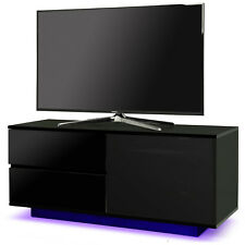 Centurion Supports Gallus Ultra Black TV Cabinet with Blackcurrent LED Lights