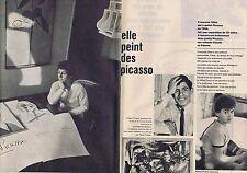 COUPURE DE PRESSE CLIPPING 1961 FRANCOISE GILOT elle peint des Picasso (4 pages)