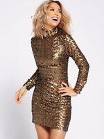 BNWT Myleene Klass Gold All Over Sequin Shift Dress Size 8 10 12 14 16 RRP £110