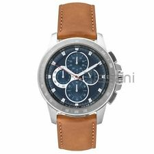 Michael Kors Original MK8518 Men's Ryker Brown Leather Strap Watch 43mm Chrono