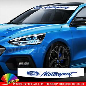 Fascia parasole Ford Motorsport RS ST Line adesivo parabrezza motor sport