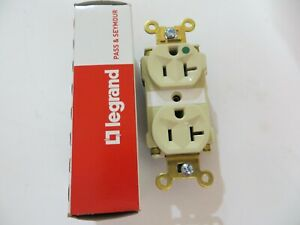 10 Pass & Seymour Ivory  HOSPITAL GRADE Receptacle Duplex Outlet PT8300-I