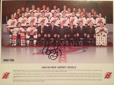 Bruce Driver Signed Autographed Team Photo 9x12 New Jersey Devils #23