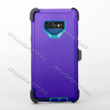 Samsung Galaxy Note 9 Rugged Case Cover Skin w/Belt Clip Fits Otterbox Defender