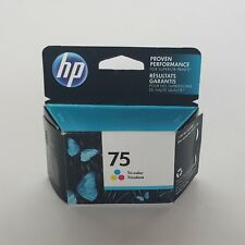 ONE (1) PACKAGE HP 75 TRI-COLOR INKJET CARTRIDGE JULY 2017 EXPIRATION DATE