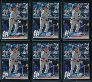 2018 Topps Factory Complete Set Gleyber Torres 6 RC Card Lot #699 NYY Rookie