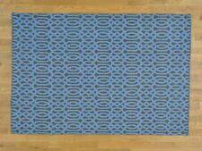 "4'10""x7'2"" Hand Woven Reversible Flat Weave Oriental Kilim Rug R26412"