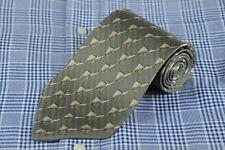 Valentino Cravatte Hombre Corbata Gris Geométrico de Rayas Seda 145x9.5cm