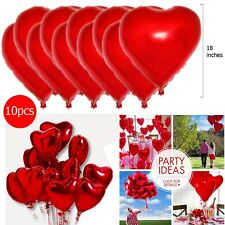"18"" Red Heart Foil Helium Balloons Valentines Day Wedding Engagement Decorations"