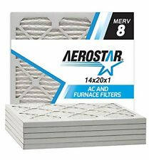 Air Filter Pleated Replacement 6Pk Dust Pollen Spores Ac Furnace Filters 14X20X1