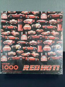 Springbok's 1000 Piece Jigsaw Puzzle RED HOT! Hot Rod & Exotic Cars- Made in USA