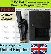 Original Pentax Charger D-BC78 D-Li78 Optio W60 W80 L50 L60 M50 M60 S1 V20 FE370