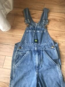 Boys John Deere size 6 Denim Jeans Overalls Adjustable Straps