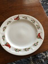 New listing Gibson China Collectible Plate-Cardinals-Holly Berries-Rimmed