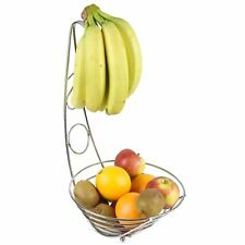 Designer frutta verdura Banana albero cromo cesto ciotola di archiviazione Hanger Hook