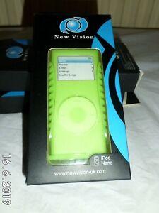 Green Silicone skin & Hard cover for ipod nano 2nd gen & Belt Clip UK