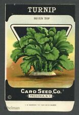 TURNIP, Seven Top, Antique Seed Packet, Card Seed, Country Store, 095