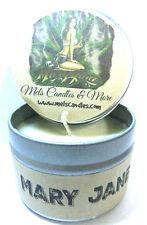Mary Jane (Marijuana Aroma) Homemade 4oz Tin Soy Candle- Easy to take any where