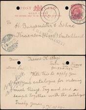 Gold Coast Kpeve Tsibu + Ho Sui Generis Pmk.1d Kg5 Stationery Card to Germany