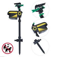 Solar Animal Repeller Adjustable Water Spray Sprinkler Scarecrow Sensor Motion