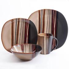 Kitchen Dinner Serving Plates 16-Piece Dinnerware Set Serving Dishes & Bowl New