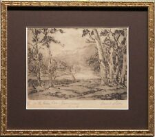 David Little (1893-1951) Original Etching On the River Cox Burrangorang Valley