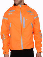 Piu Miglia Mens Commuter Reflective Hi-Viz Waterproof Cycling Bike Jacket Orange