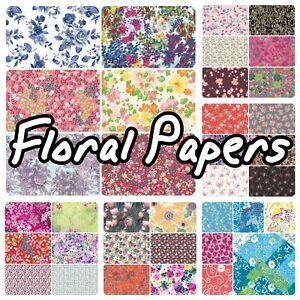 Decopatch Paper, Decoupage Paper Half Sheet, FLORAL **Inc Texture/Foil Papers**