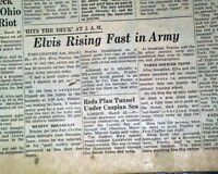 ELVIS PRESLEY King of Rock-N-Roll Joins United States ARMY 1958 Old Newspaper