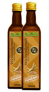 Weizenkeimöl Weizenkeim Öl kaltgepresst nativ 250 500 1000 ml versandfrei Glas