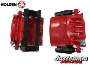 HOLDEN COMMODORE VE V6 RECONDITIONED FRONT BRAKE CALIPERS - RED  ( New Pistons )